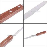 Andra objekt Rakhälsa BeautyStainless Steel Waxing Sticks Spatas för depilering Hårborttagare Applicator Easy Hold Epilator Wax Drop d
