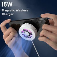 15W Quick Charge Magnetic Wireless Chargers 3 in1 Fast Charging Charger Adapter Stand with Cooling Fan Bulit-in For iPhone 12 Pro Max Mini