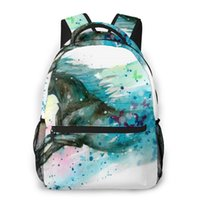 Backpack Women Fashion Male Travel Mens Bag Large Laptop Shopping Watercolor Running Horse