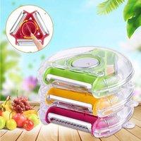 Stylowe narzędzia kuchenne Owoce Owoce i warzywa Obieraczka 3-w-1 Wszechstronna obrotowa ostrze ze stali nierdzewnej do łatwego czyszczenia i wymiany