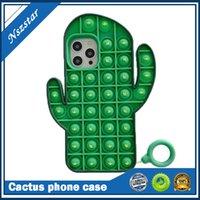3D Unzip مضحك لطيف الصبار حالة الهاتف لآيفون 11 12 ميني برو ماكس xr xs ماكس 6 7 8 زائد غطاء سيليكون لفون 12 برو ماكس