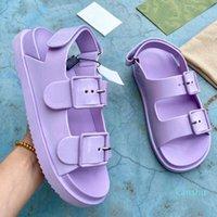Top Designer Luxus Frauen Sandalen Mode Damen Flache Ferse Strand Schuhe Lastst Casual Front Heckträger Sliden Klettfilm Womens Sandalbox