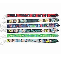 Cartoon Anime Rick Morty Mobiltelefon Lanyards Cartoon Schlüsselanhänger Hals Strap Keys Kamera-ID-Karte Mobiltelefon-Saiten