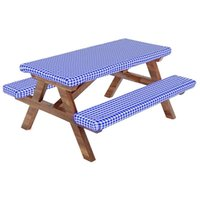 Table Cloth Fitted Picnic Tablecloth Cover With Bench Covers, And Seat Covers,RV & Camper Accessories