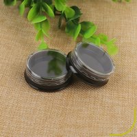 3g Black Plastic Travel Cosmetic Jars Bottle Refillable Makeup Cream Eyeshadow Lip Balm Sample Storage Container Bottles Pot with Clear Lids