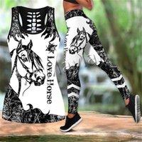Мода 3d печатает животных женские леггинсы любви лошадь искусства красочные формальные полые танч-амперные гоночки для битного отдыха женские сексуальные