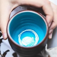 Cups & Saucers Handmade Retro Crackle Tea Cup Glaze High Temperature Firing Ceramic Teacup Porcelain Bowl Accessories For Home And Office