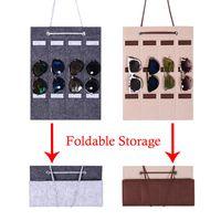 Storage Bags Glasses Hanging Bag Foldable Jewelry 12 Slot Wall Sunglasses Felt Material