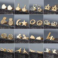 Золотой корейский минималистский золотой железный железо из нержавеющей стали треугольник серьги для женщин мода ювелирные изделия подарок 782 q2