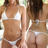 Sherrylo Dize Bikini Arsız Tanga Alt Mini Mikro Bikini Set Mayo Katı Kadın Mayo Büyük Boy Sunbath Mayo 425i #