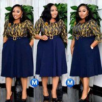 Ethnic Clothing 2021 Patchwork Pleated African Clothes Plus Size Africa Christmas Robe Print Dresses For Women Dress