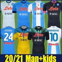 SSC Napoli Maradona Soccer Jerseys Co-Branded Edition 20/21 Fabian Insigne Osimhen Football Jersey H.Lozano Mertens Koulibaly Camisas Elmas Milik Camiseta de Nápoles