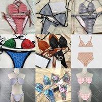 Sin caja Mujeres sexy traje de baño Swinwear Summer Newest Print Lady DOTOS DOS PISTAS Marca Bikini 25 Patrones Chicas Elástico Beach Desgaste