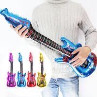 Moda Renkli Alüminyum Kaplama Gitar Sopa Balonlar Çocuklar Komik Oyuncaklar Ev Partisi Hediyeler Süslemeleri