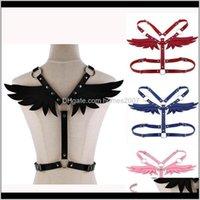 Chokers Necklaces & Pendants Jewelryleather Angel Set Punk Body Chain Women Garters Strap Bondage Halterneck Beach Collar Gothic Waist Shoul
