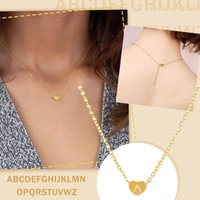 Chains 26 Letter Love Clavicle Neck Chain Women's Fashion Heart Necklace Women Girl's Jewelry Friendship Christmas Birthday Gift