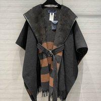 Womens Cape Autumn Fashion Women Bathrobe coat Outerwear Winter Coats 4 Styles Letter Pattern Trendy Lady Streetwear