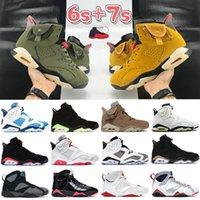 Nuovo 6 4 xwhite pallacanestro Scarpe Uomo Donna 4s 6s Sneakers xsail bianco Hare SE Neon Travis viola metallici Scotts formatori portachiavi