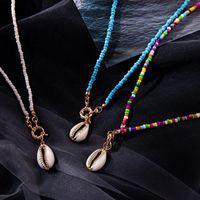 Chokers Qingwen Colorido semilla Beads gargantilla para mujer moda moda bohemia verano chic baber collier femme cowrie shell collar