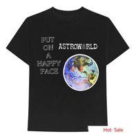 FactoryCUZ4 Kadınlar Astroworld Albümü Dünya Desen Mektup Baskı Erkekler T-Shirt Rapper Travis Scott Moda Tees Yaz SHO Tops