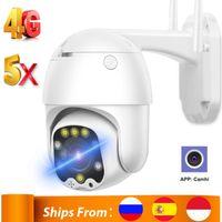 Caméra de carte 1080P PTZ 5x Zoom Auto Focus 2.7-13.5mm / 6mm Fixe Lens Fixe Security Security sans fil WiFi WiFi IP Camhi Cameras