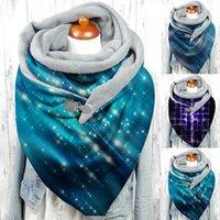 Scarves Chic Scarf Women Star Print Winter Cashmere Warm Button Scaves Lady Elegant Soft Wrap Casual Shawls Bib Echarpe Femme Hiver