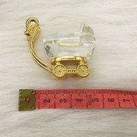 Venta al por mayor- 2016 Colección de cristal de color dorado Carrera de bebé con caja de regalo Bretancing Favor Baby Shower Regalo Regalo de cumpleaños DSF0044