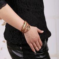 Charme Armbänder Vintage Stil Design Braunes Leder gewebt Armband DIY Benutzerdefinierte Anker und Armreif Frau Mann Feiertagsgeschenk