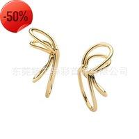 Jinggong colorful ins painless ear bone clip no hole U-type universal rings for men and women