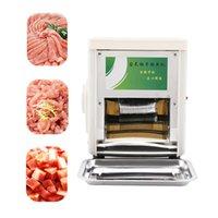 220V Fleisch Slicer Elektrische Gemüseschneiderschleifer Kleine Haushaltsgewerbe Multifunktions-Shred-Schneide-Würfelmaschine