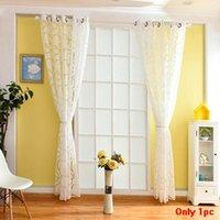 ستائر نافذة التعتيم، Hinmay ستائر الزهور شايرز مع Circle Bubble Cut View لغرفة المعيشة المطبخ، الستائر الستائر