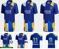 Di alta qualità 20 21 Boca Juniors Juniors Jersey di calcio Carlitos Maradona Tevez de Rossi 2021Third Casa Away 3a 4a Tailandia Camicia da calcio Uomini e bambini set uniforme