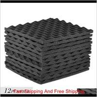 Other Building Supplies Home & Garden12 Pcs Soundproofing Foam Studio Acoustic Foams Panels Wedges 12X12 Inch Soundproof Absorption Treatmen
