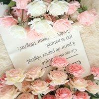 Nemlendirici Güller Yapay Çiçek DIY Gül Gelin Buketi Sahte Çiçekler Düğün Dekorasyon Parti Ev Dekorları için Sevgililer Günü DWF6086