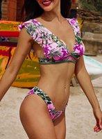 Fashion Women's Swimsuit Sexy Girl Bathing Suit Summer Beach Swimwear print floral Women Bikinis One Piece Beachwear Suit Monkini Multicolors swim wear female