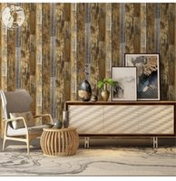 Wallpapers 45cmx6m Home Wall Decoration Sticker Retro Wood Grain Wallpaper Adhesive PVC Furniture Cover Decal For Living Room Bedroom Decor