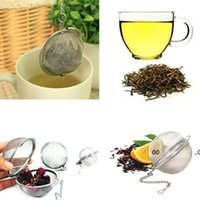 Teaware Stainless Steel Mesh Tea Ball Infuser Strainer Sphere Locking Spice Tea Filter Filtration Herbal Ball Cup Drink Tools FWF10388