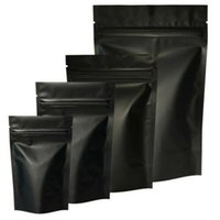 Black Mylar Bags Aluminum Foil Zipper Bag for Long Term food storage and collectibles protection two side colored