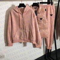 Moda Marka Ceket Hoodies Pantolon 3 adet Set Tasarımcı Eşofman Bayan Ceketler Uzun Kollu Artı Polar Kapüşonlu Sweatshirt