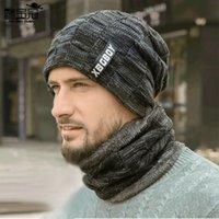 2021 الشتاء قبعة البلوز وشاح مجموعة الصوف الصوف قبعة الخريف والشتاء محبوك قبعة للرجال
