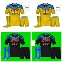 Erwachsene Kinder Kit 21 22 Napoli Fußball Jersey Neapel Fußball Hemd 2021 Koulibaly Camiseta de Fútbol Insignente Maillots H.lozano Mertens