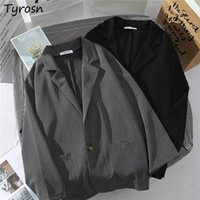 Women's Suits & Blazers Women Solid Single Button Fashionable Daily Student Japan Style Harajuku Oversize Leisure Streetwear Vintage Simple