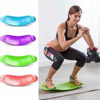ABS 트위스트 피트니스 밸런스 보드 간단한 핵심 운동 거실 요가 트위스터 훈련 복부 근육 다리 패드 프라 란탄