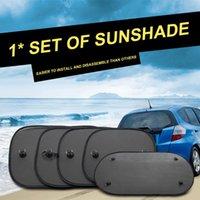 Car Sunshade Black Mesh Sun Visor Baby Kids Sunscreen UV Protection For Window Suction Cups With Storage Bag