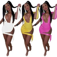 Casual Dresses Women Full Sleeve Sexy Mini Dress Summer Solid Sheath Club Party Bodycon