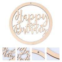 Biglietti d'auguri 1pc Happy Birthday Birthday Tag Plate Plate Board Board per la porta della porta