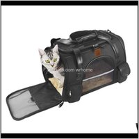 Supplies Home Gardenpolyester Folding Breathable Pet Dog Crossbody Bag With Soft Cushion Mat Cat Outdoor Handbag Totebag Travel Carriers,Crat