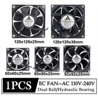 1Pcs Gdstime EC Axial Fan 60mm 80mm 90mm 120mm PC Dual Ball Brushless Cooler AC 110V 120V 220V 230V 240V Computer Case Laptop Cooling Pads