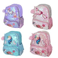 Children Bags Backpacks Sequin Unicorn Cartoon Shoulder Princess Backpack Girls Kids School Satchel Bag B7209