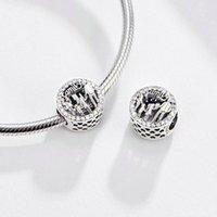 Passt europäisch Pandora-Liebe macht einen Familien-Charm-Perle mit Armreif Schmuck Armbänder Halsketten Anhänger echtes Sterlingsilber 925 834 R2